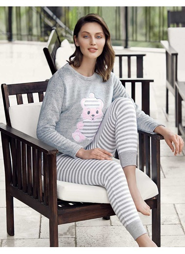 Şahinler Pijama Takım Gri